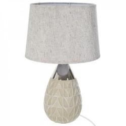 lampada in ceramica h46, beige